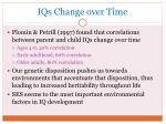 iqs change over time