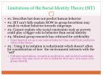 limitations of the social identity theory sit