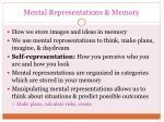 mental representations memory