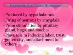 oxytocin the love hormone