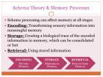 schema theory memory processes