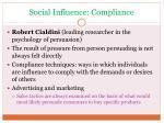 social influence compliance