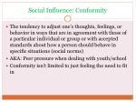 social influence conformity