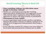 social learning theory in real life