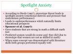 spotlight anxiety