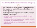 the mind can be studied scientifically principle 2