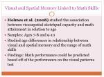 visual and spatial memory linked to math skills