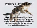 proof 5 intelligent design