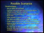 possible scenarios3