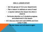 idea 3 lesson study