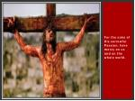 for the sake of his sorrowful passion have mercy on us and on the whole world38
