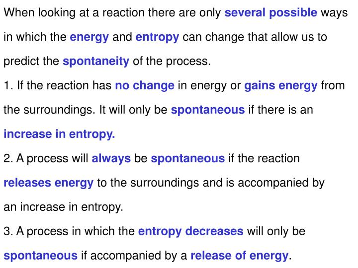 When looking at a reaction there are only