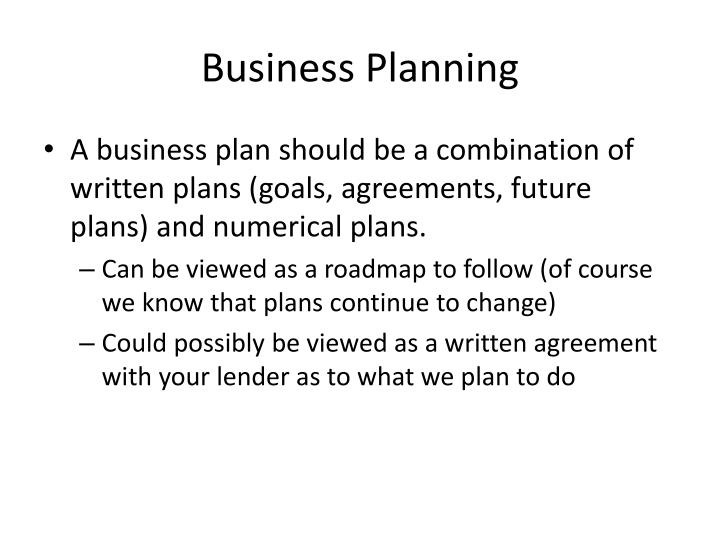 business planning n.