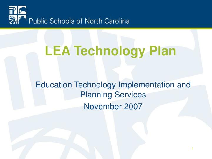 lea technology plan n.