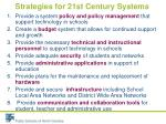 strategies for 21st century systems
