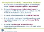 strategies for globally competitive students