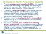 strategies for healthy responsible students