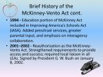 brief history of the mckinney vento act cont