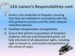 lea liaison s responsibilities cont1
