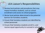 lea liaison s responsibilities