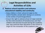 legal responsibilities and activities of leas1
