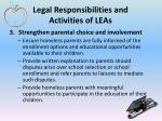 legal responsibilities and activities of leas2