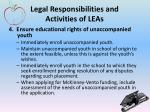 legal responsibilities and activities of leas3