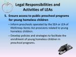 legal responsibilities and activities of leas4