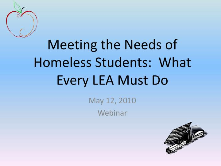 meeting the needs of homeless students what every lea must do