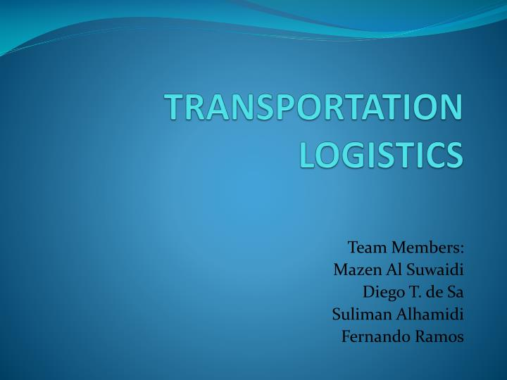 transportation logistics n.