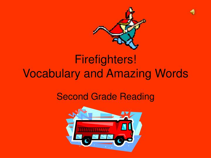 firefighters vocabulary and amazing words n.