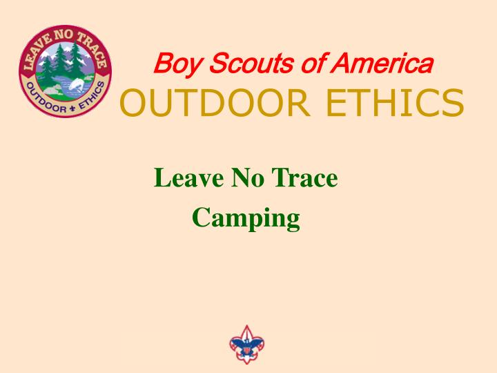 boy scouts of america outdoor ethics n.