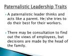 paternalistic leadership traits1
