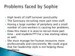 problems faced by sophie