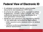 federal view of electronic id