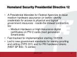 homeland security presidential directive 12