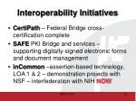 interoperability initiatives