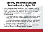 security and online services implications for higher ed