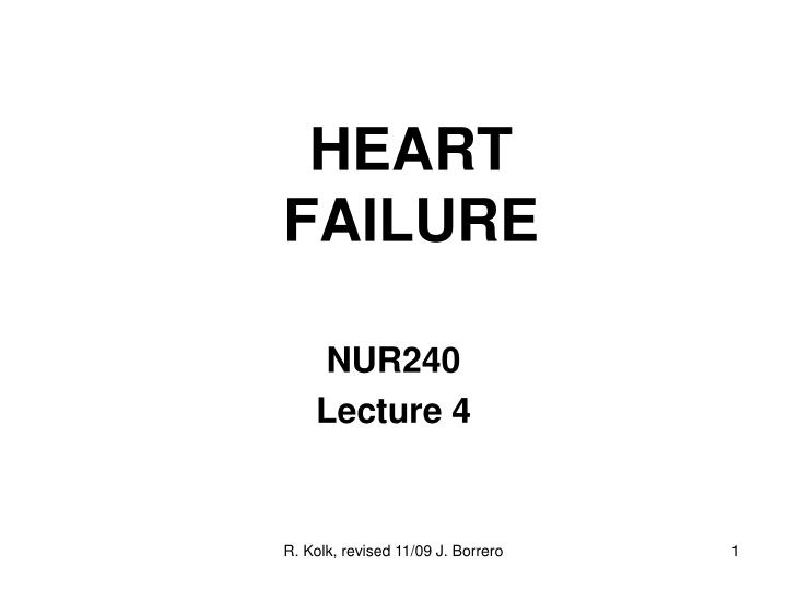 heart failure n.