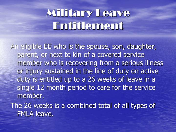 Military Leave Entitlement