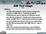 aim tool usage contd