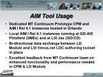aim tool usage