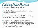 golding war service