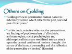 others on golding