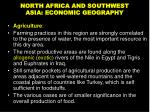 north africa and southwest asia economic geography
