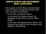 north africa and southwest asia landforms
