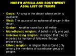 north africa and southwest asia list of terms1