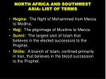 north africa and southwest asia list of terms2