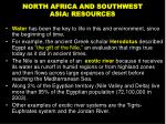 north africa and southwest asia resources
