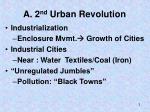 a 2 nd urban revolution